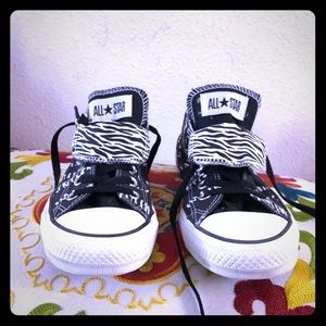 Chuck Taylor Converse all star zebra double tongue